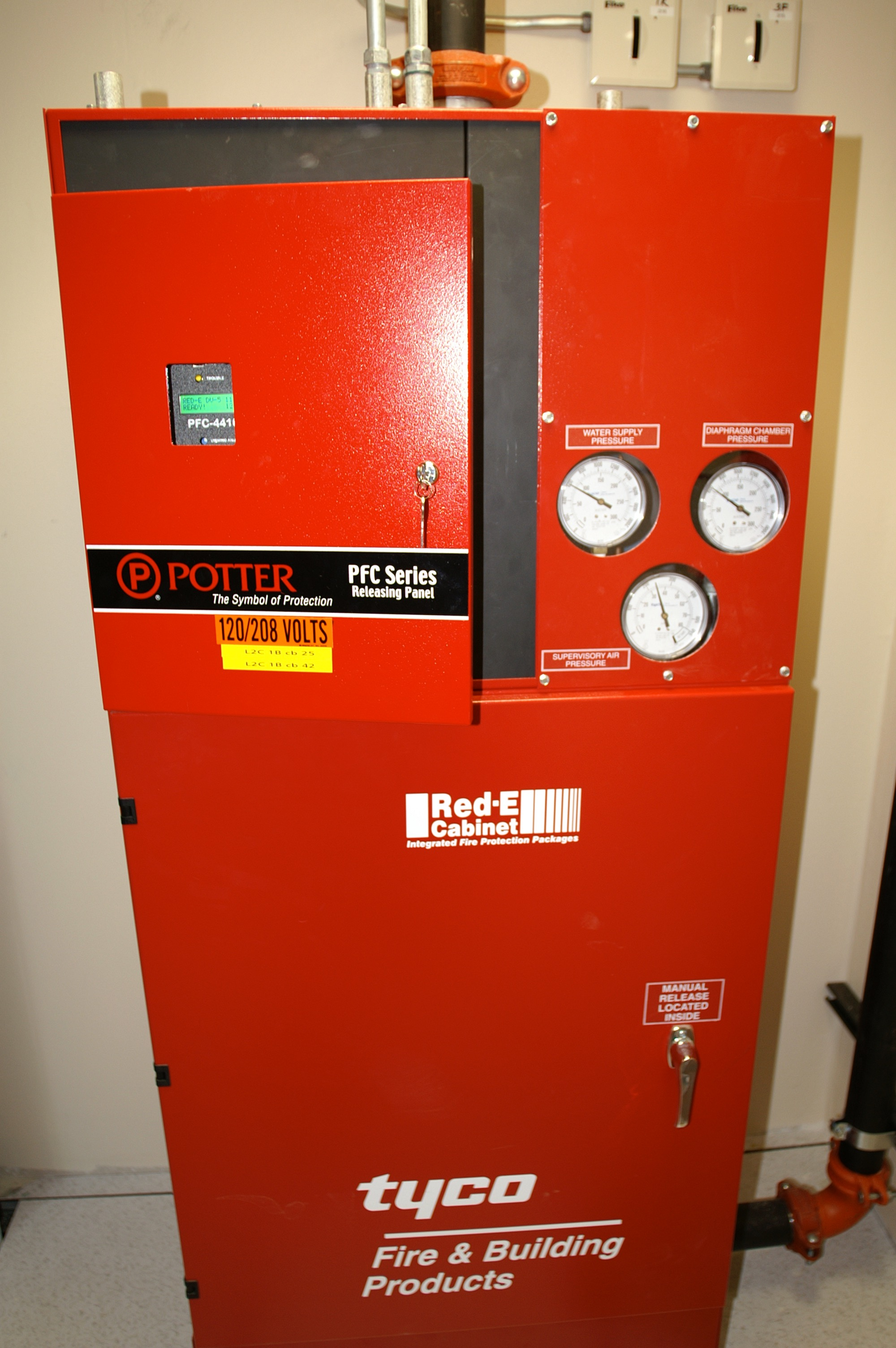 Widar Fire Protection Additionally Series Circuit Diagram Further Alarm Photograph Of The Tyco Red E Cabinet From Correlator